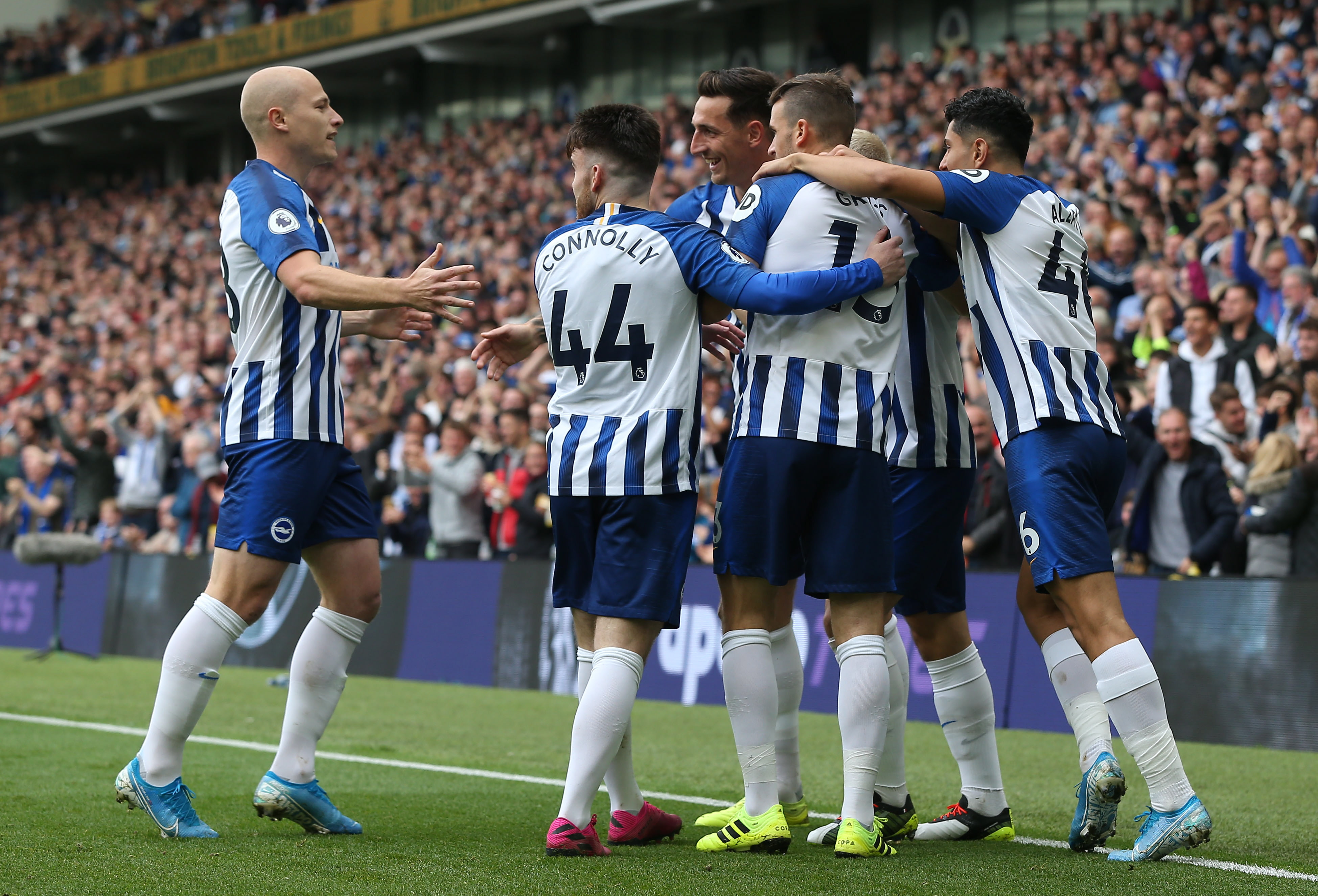 Brighton & Hove Albion's Neal Maupay hopes to score against Crystal Palace