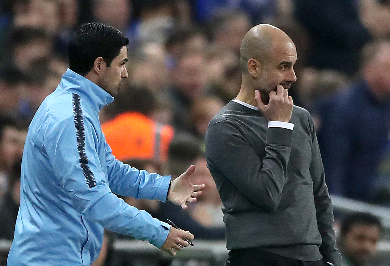Pep Guardiola shares his thoughts on Mikel Arteta's start at Arsenal