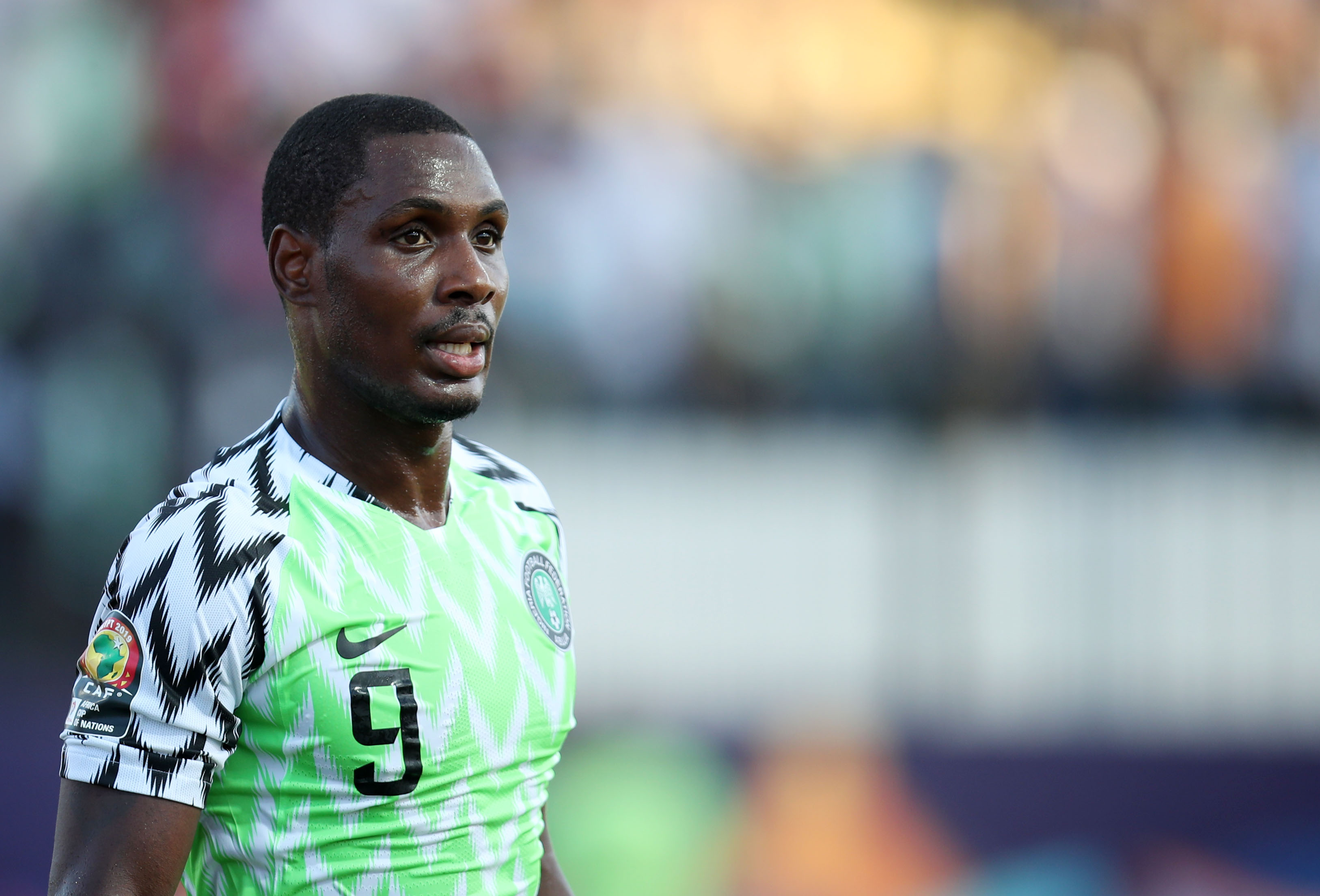 Odion Ighalo pictured at Manchester United training base for first session