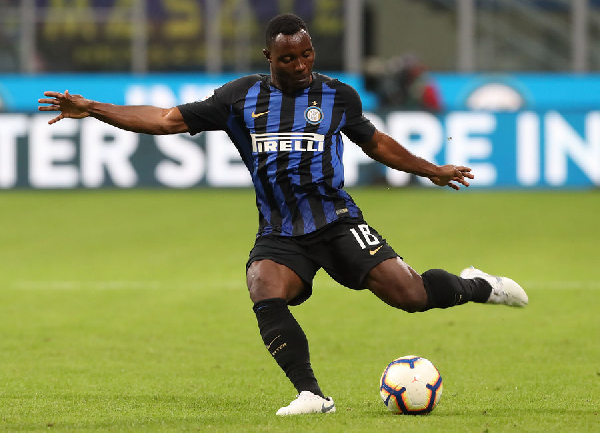 Ghana international Kwadwo Asamoah suspended for Inter Milan's next Serie A game against with Chievo