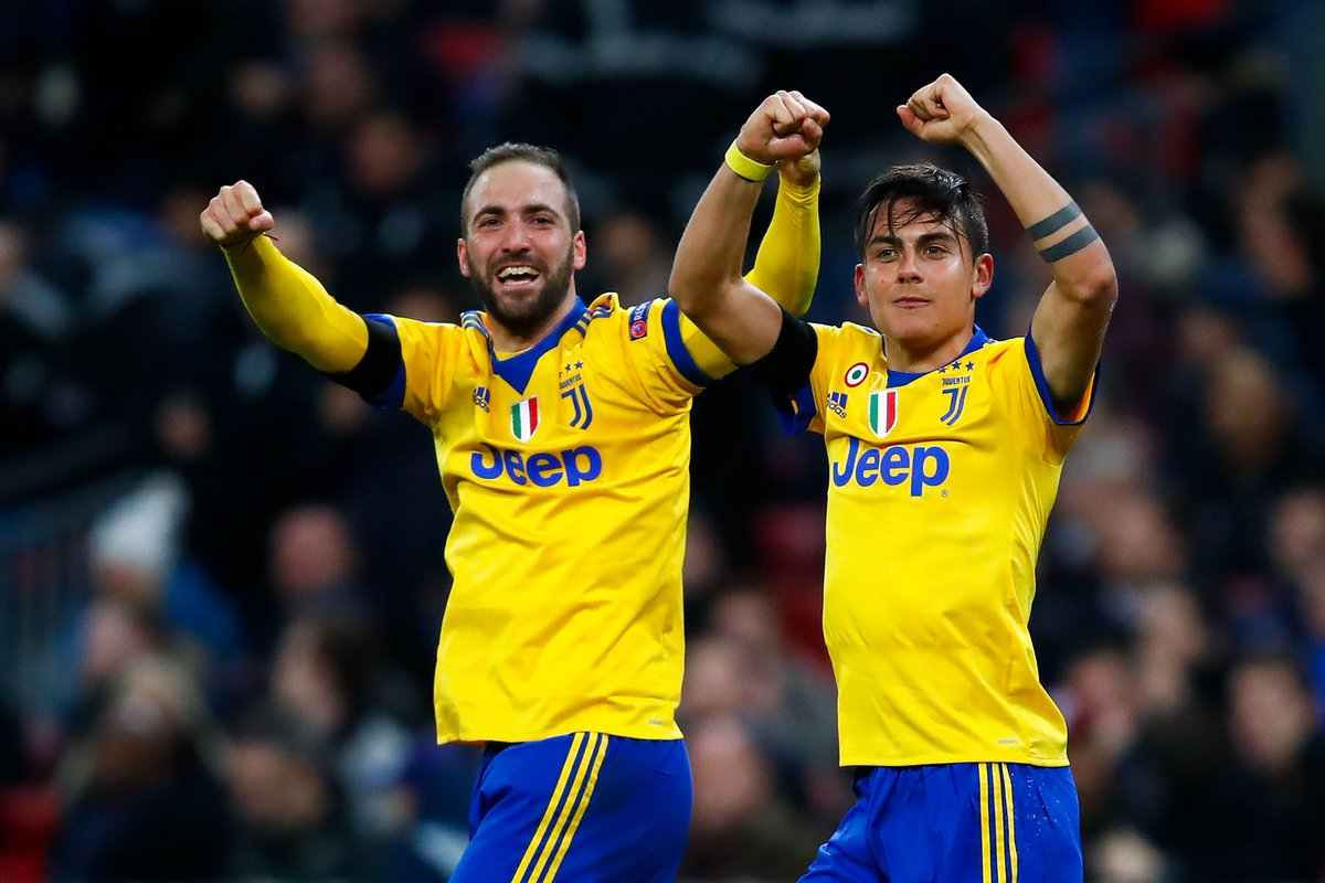 UEFA CL: Higuan, Dybala strikes dump Tottenham out