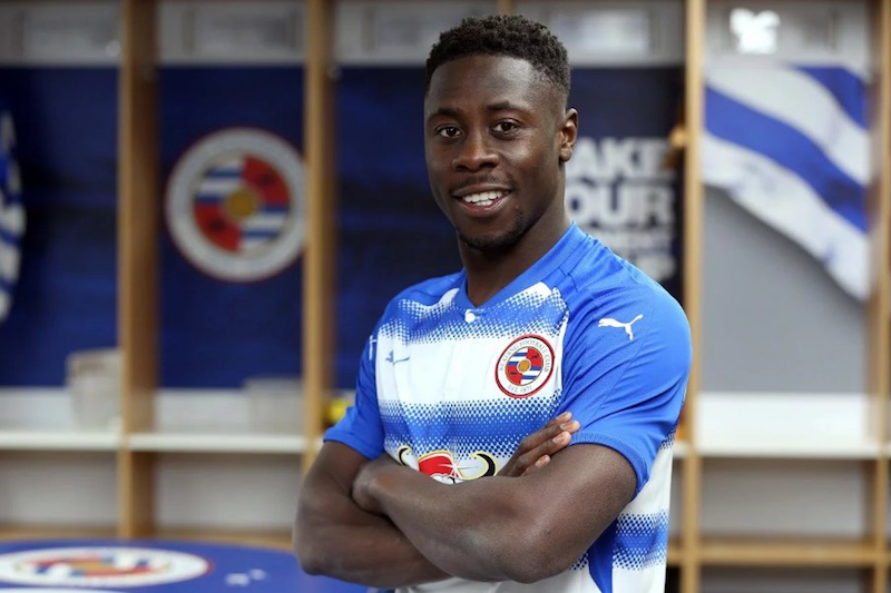 Andy Yiadom scores his first goal for Reading.