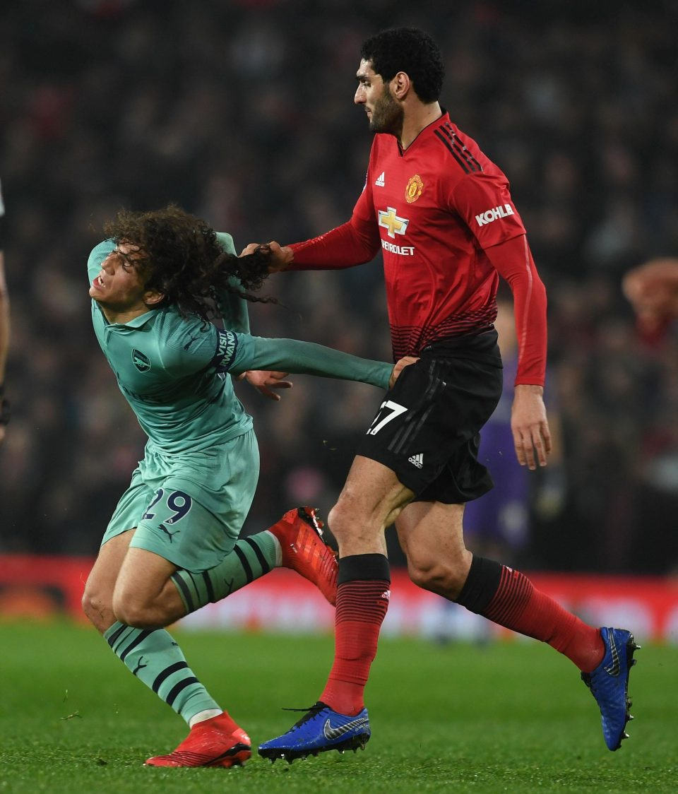 Video: Did You See Fellaini's Ugly Pulling of Guendouzi's Hair?