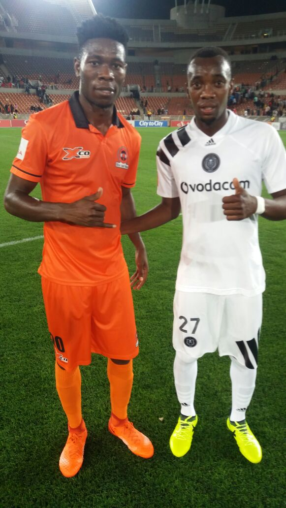 Shonga makes his Orlando Pirates debut
