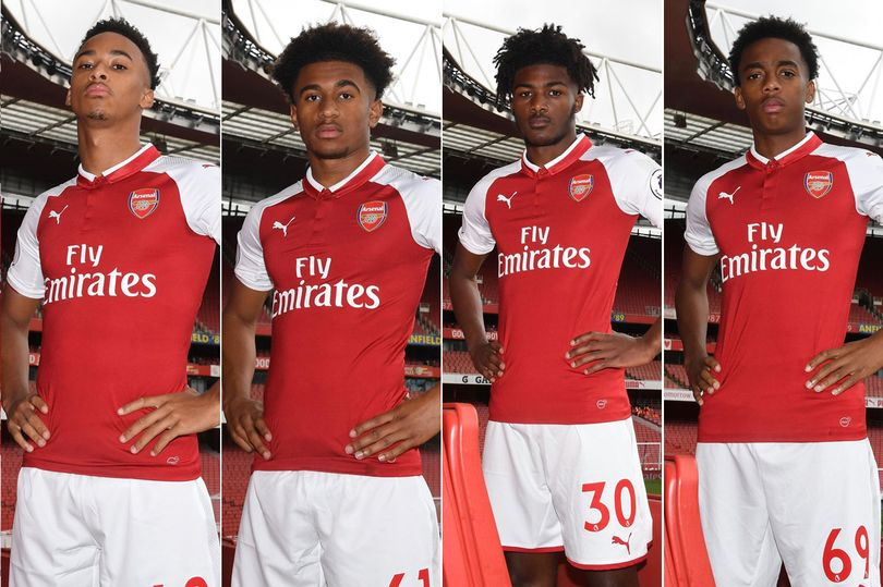 new arrival e86da 3a72a Wenger promotes four youngsters to the first team